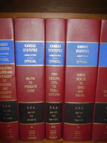 Picture showing legal books on a shelf.  Linda K. Howerton